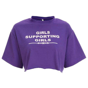 Girls Supporting Girls Cropped Tee - Shop Minu (shirt) Korean Aesthetic Asian Women's Fashion