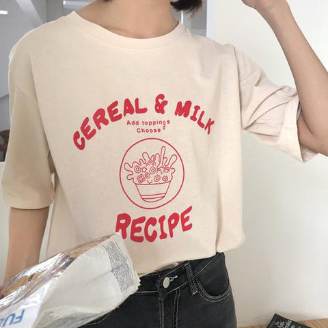 Cereal and Milk Tee