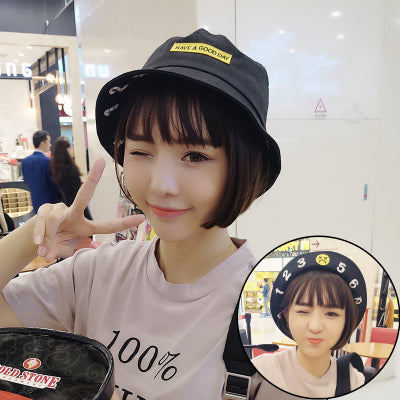 Graphic Embroidery Print Bucket Hat - Shop Minu (hat) Korean Aesthetic Asian Women's Fashion