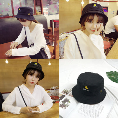 Graphic Embroidery Print Bucket Hat - Shop Minu (hat) Korean Aesthetic Apparel & Accessories