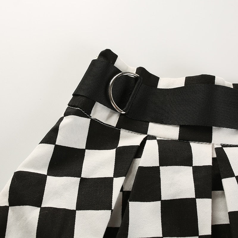Pleated Checkerboard Skirt - Shop Minu (skirt) Korean Aesthetic Apparel & Accessories