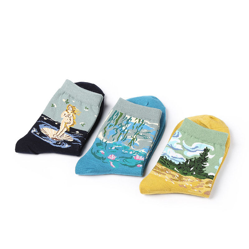 Museum Art Socks - New Styles - Shop Minu (socks) Korean Aesthetic Apparel & Accessories
