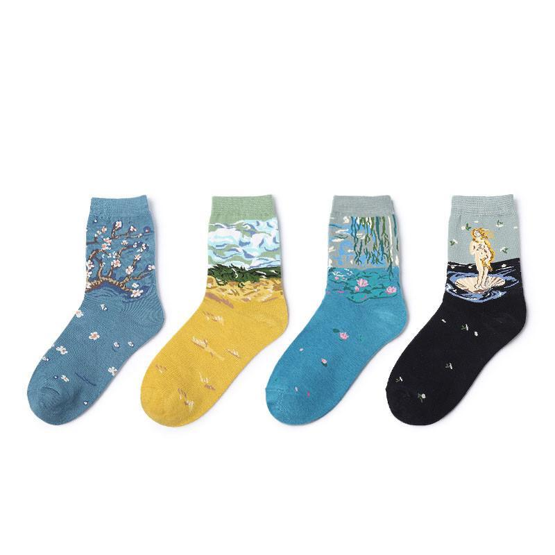 Museum Art Socks - New Styles - Shop Minu (socks) Korean Aesthetic Asian Women's Fashion