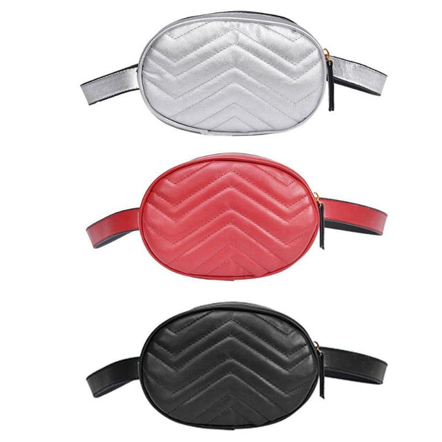 Faux Leather Oval Waist Bag Purse - Shop Minu () Korean Aesthetic Apparel & Accessories