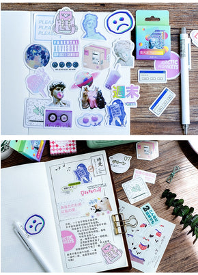Vaporwave Aesthetic Stickers - Shop Minu (stickers) Korean Aesthetic Apparel & Accessories