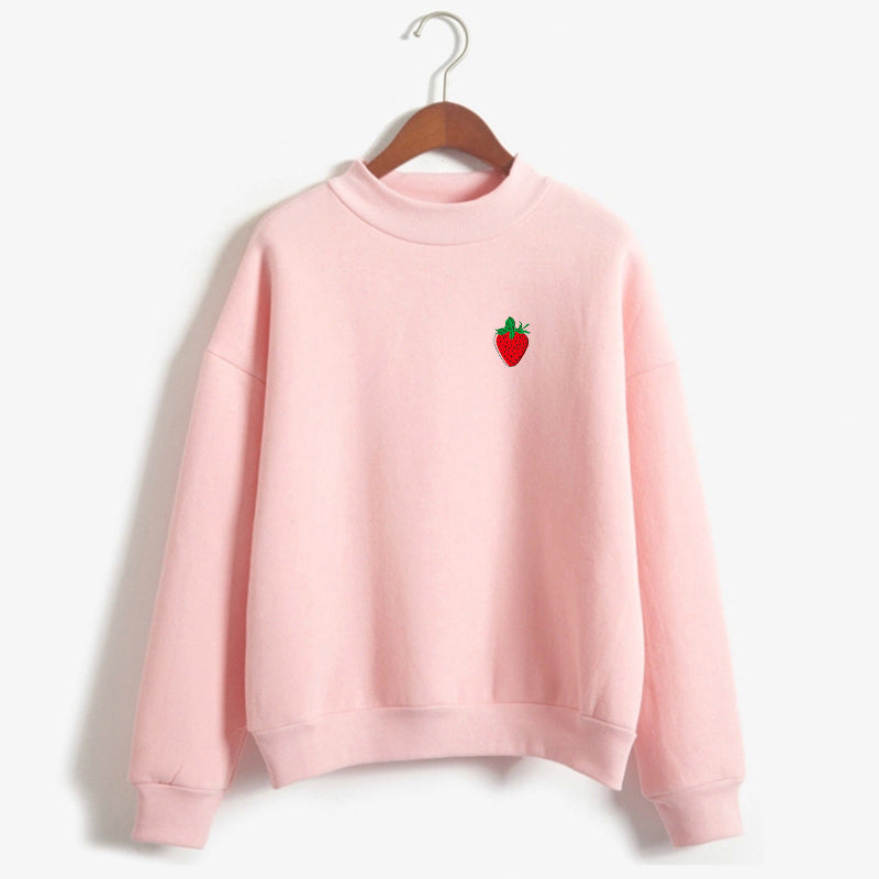 Strawberry Sweatshirt - Shop Minu (sweatshirt) Korean Aesthetic Asian Women's Fashion