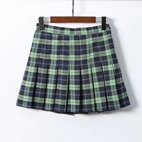 Pleated Plaid Skater Skirt - Shop Minu (skirt) Korean Aesthetic Apparel & Accessories