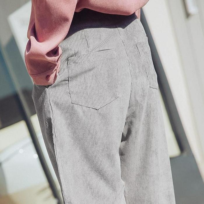 Corduroy Pants - Shop Minu (pants) Korean Aesthetic Asian Women's Fashion