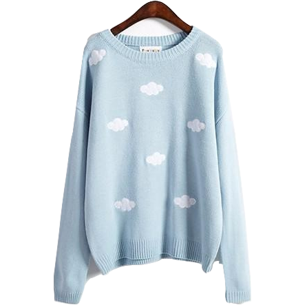Clouds Sweater - Shop Minu () Korean Aesthetic Asian Women's Fashion