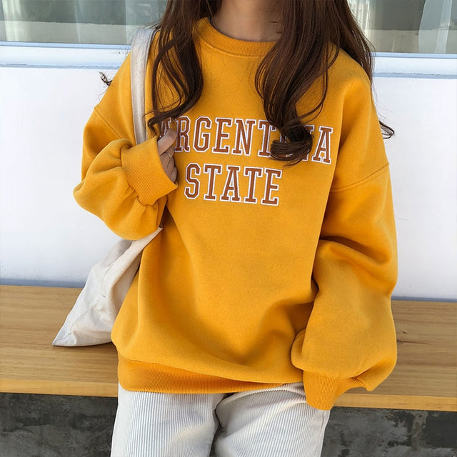 College Sweatshirt - Shop Minu (sweatshirt) Korean Aesthetic Asian Women's Fashion