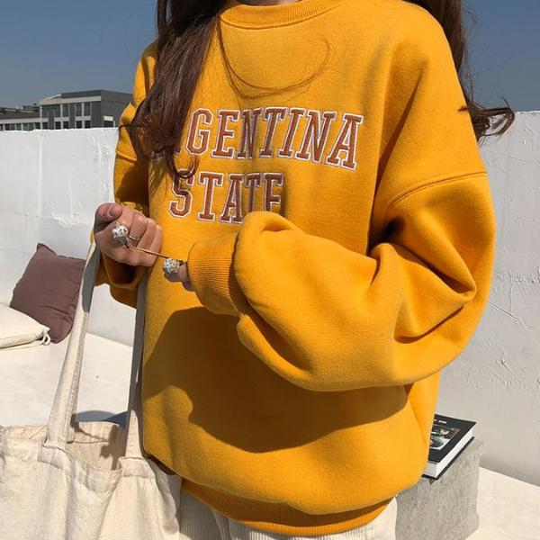College Sweatshirt - Shop Minu (sweatshirt) Korean Aesthetic Apparel & Accessories