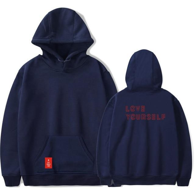 BTS Love Yourself Pullover Hoodie - Shop Minu (hoodie) Korean Aesthetic Apparel & Accessories