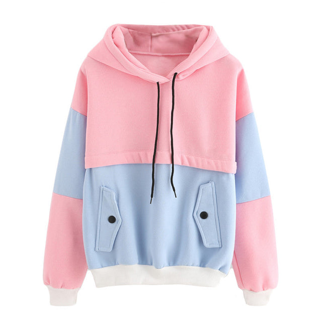 Colorblock Hoodie - Shop Minu (hoodie) Korean Aesthetic Apparel & Accessories
