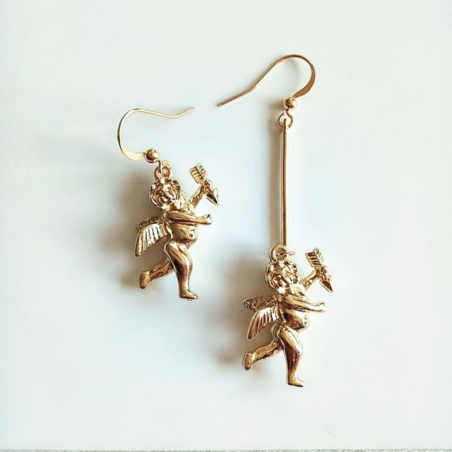 Cupid Asymmetrical Earrings - Shop Minu (earrings) Korean Aesthetic Apparel & Accessories