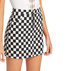 Retro Checkered Skirt - Shop Minu (skirt) Korean Aesthetic Apparel & Accessories