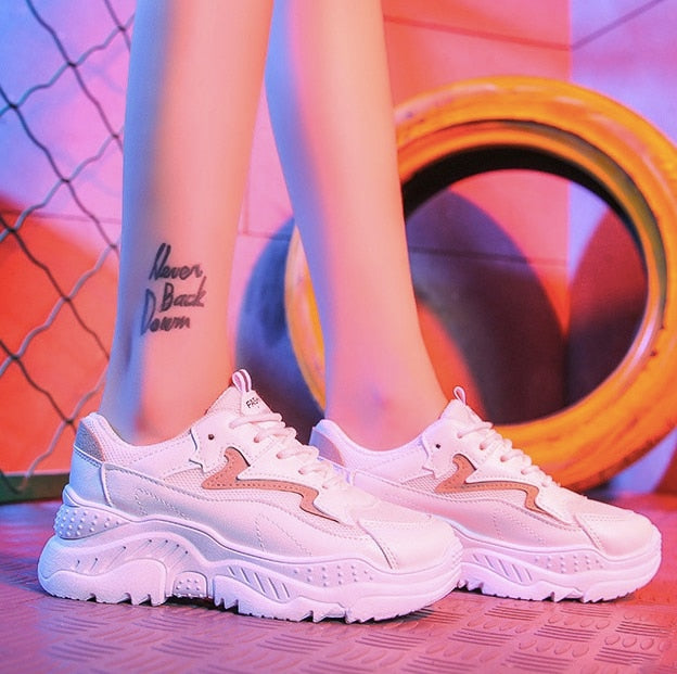 Aesthetic Platform Sneakers - Shop Minu (shoes) Korean Aesthetic Apparel & Accessories