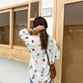 Spring Floral Blouse - Shop Minu (shirt) Korean Aesthetic Apparel & Accessories