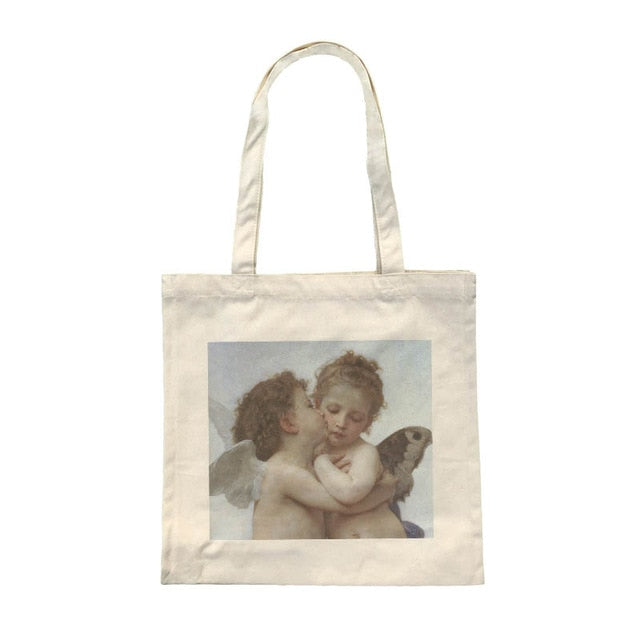 Vintage Angel Tote Bag - Shop Minu (bag) Korean Aesthetic Apparel & Accessories