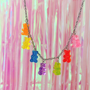 Jelly Bear Necklace - Shop Minu (necklace) Korean Aesthetic Apparel & Accessories