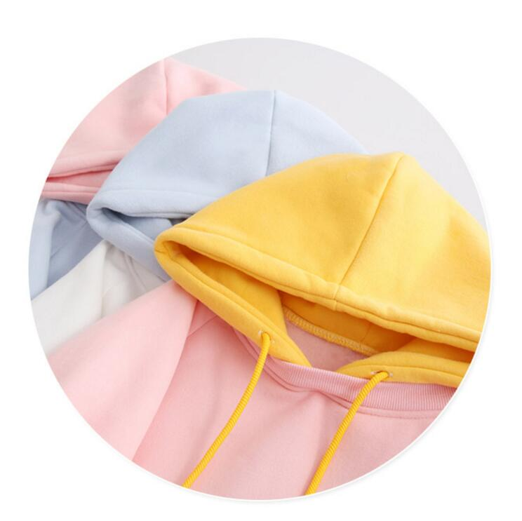 Two Tone Pastel Hoodie - Shop Minu (hoodie) Korean Aesthetic Apparel & Accessories
