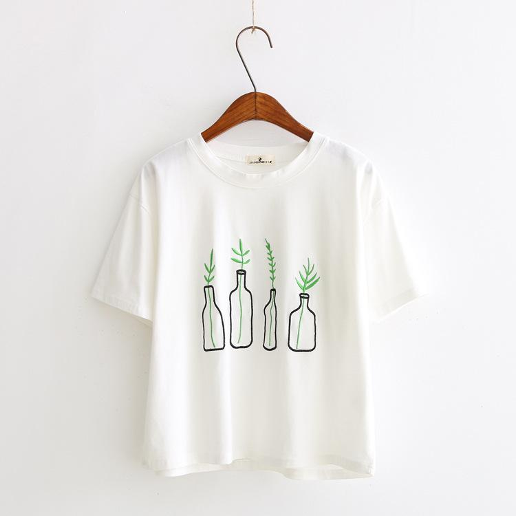 Vase Tee - Shop Minu (shirt) Korean Aesthetic Asian Women's Fashion