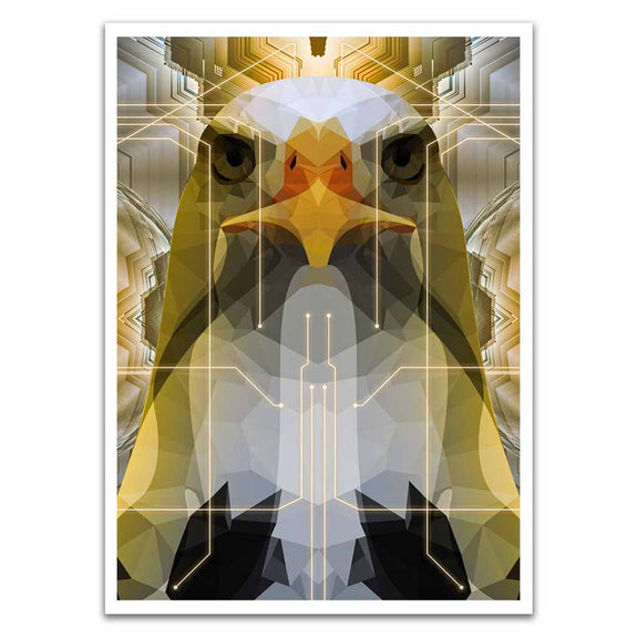 Bird Version Two Polygon Symmetry Card Sleeves