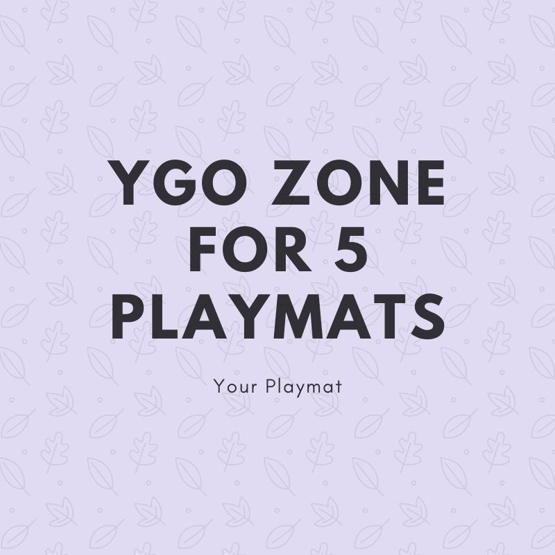 YGO Zone for 5 Playmats