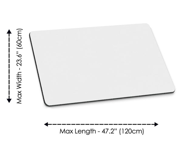 Custom-sized mouse pad
