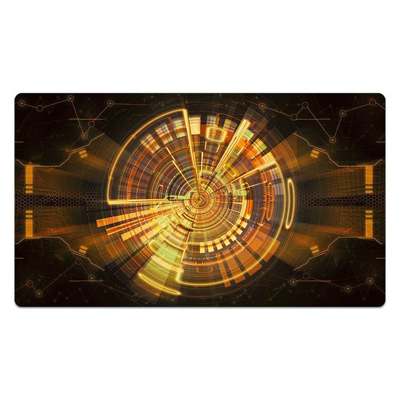 Golden Mech Interface Mouse Pad