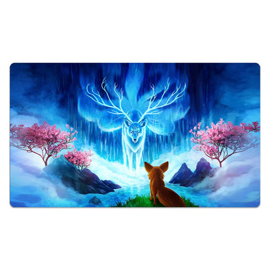 Mythical Nine-Tailed Deer Giving Wisdom Playmat