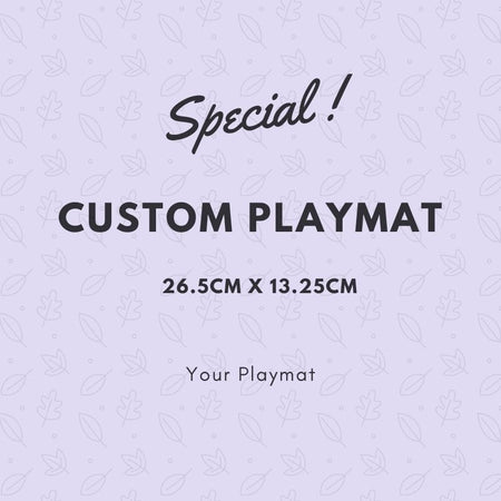 Custom Playmat 26.5cm X 13.25cm - Pack of 7 playmats