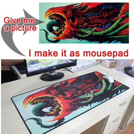 1100mm Super super big Mouse Pad  XXXL Gamer Locking Edge desk Mice Mat Custom mats