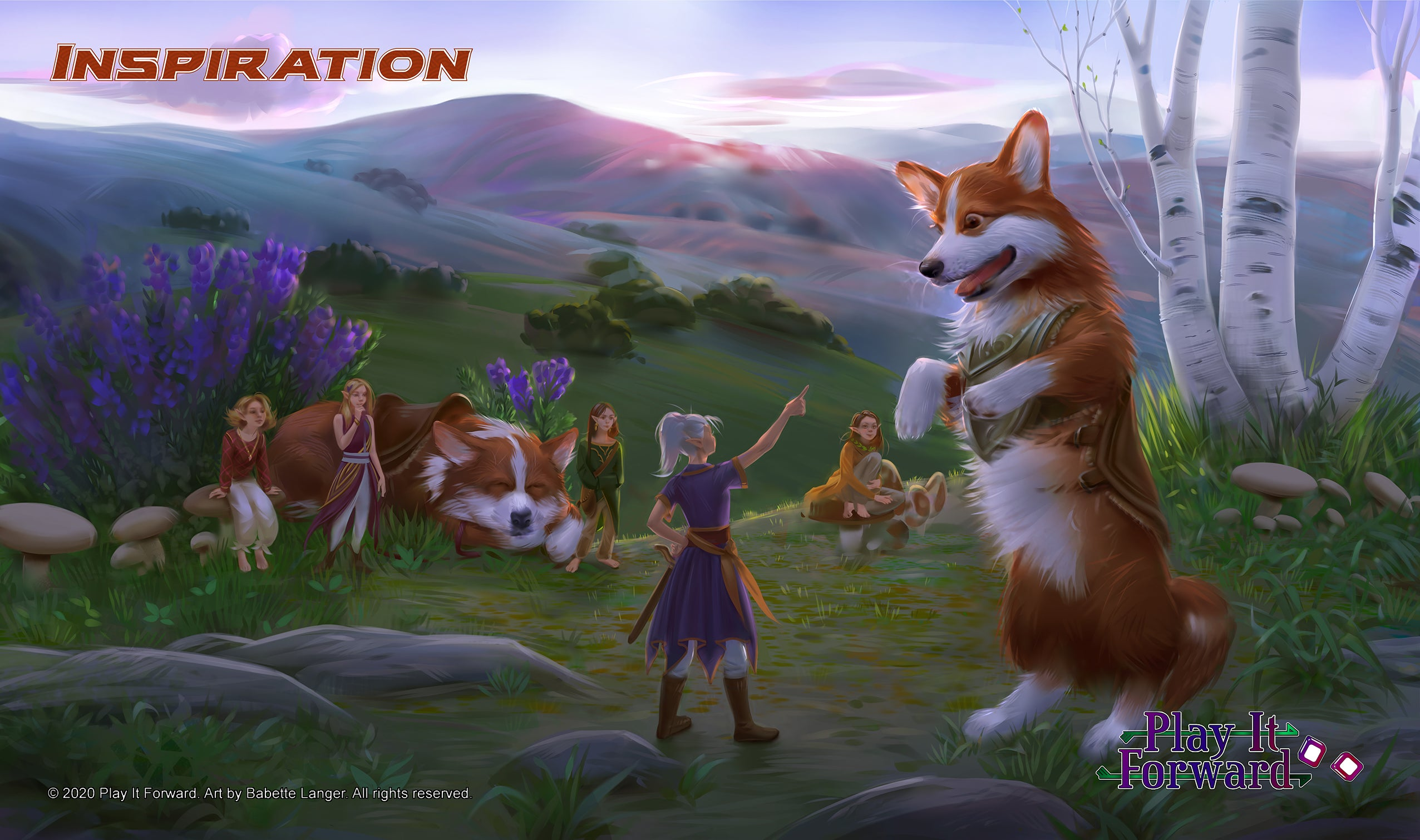 Corgi Inspiration Playmat