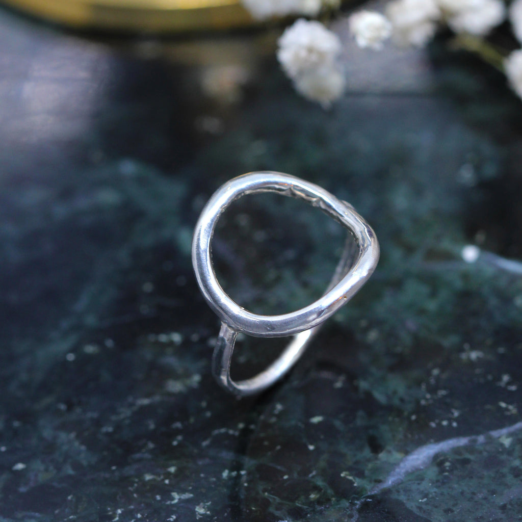 3 3 9 // grand circle ring - sterling silver