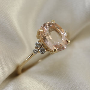 2 4 3 // morganite and diamond padley ring