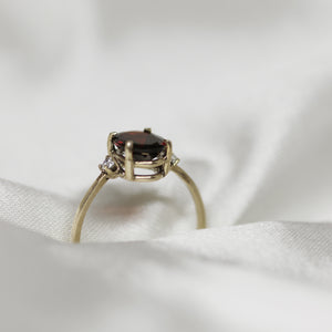 2 3 0  // garnet x diamond ring