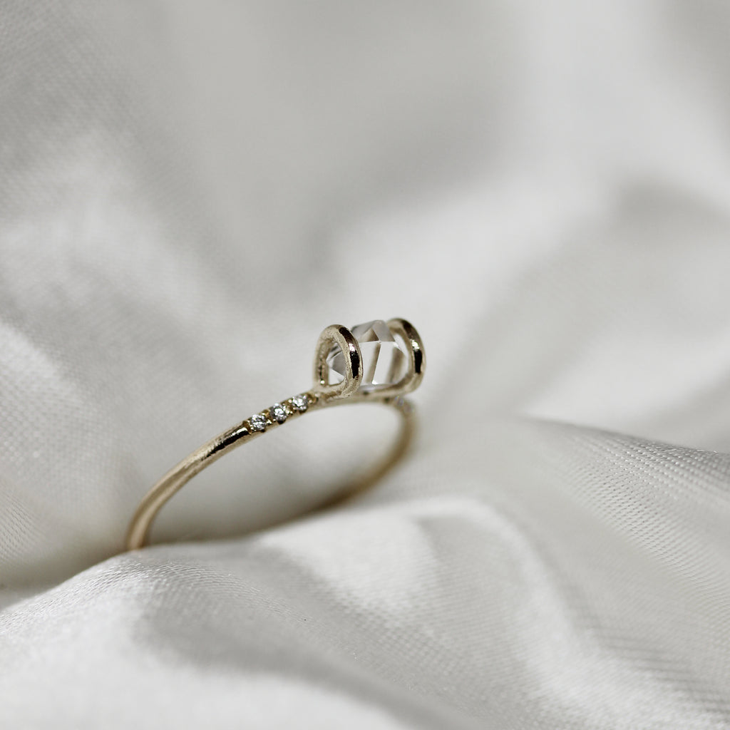 2 1 3 // diamond x tiny herkimer ring
