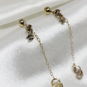 0 4 6 // white sapphire chain earrings