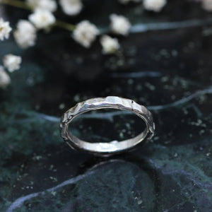 3 3 0 // hammered band - sterling silver