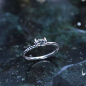 3 1 3 // tiny herkimer ring - sterling silver