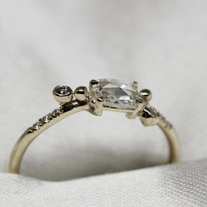 2 3 4 // rose cut diamond lovers twilight ring