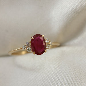 2 4 4 // ruby and diamond petite padley ring