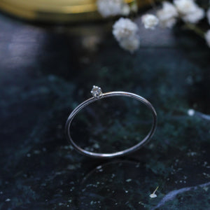 3 2 9 // tiny white sapphire sparkler - sterling silver