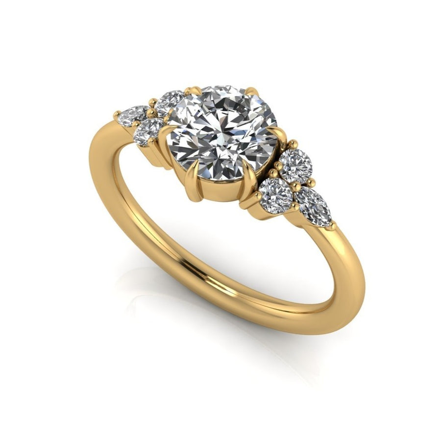 0 2 5 1 //  oval moissanite ryan ring -  for s