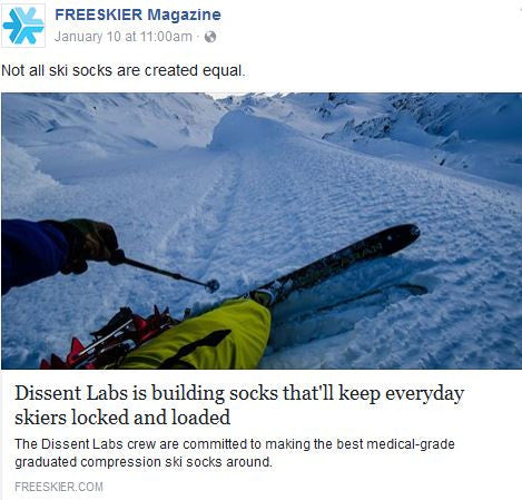 DISSENT - FREESKIER INTROSPECTIVE ARTICLE - Dissent Labs is building Socks That'll Keep Everyday Skiers Locked and Loaded