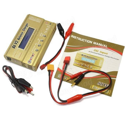 B6 V2 80W 6A Digital RC Battery Balance Charger Discharger for LiPo Battery