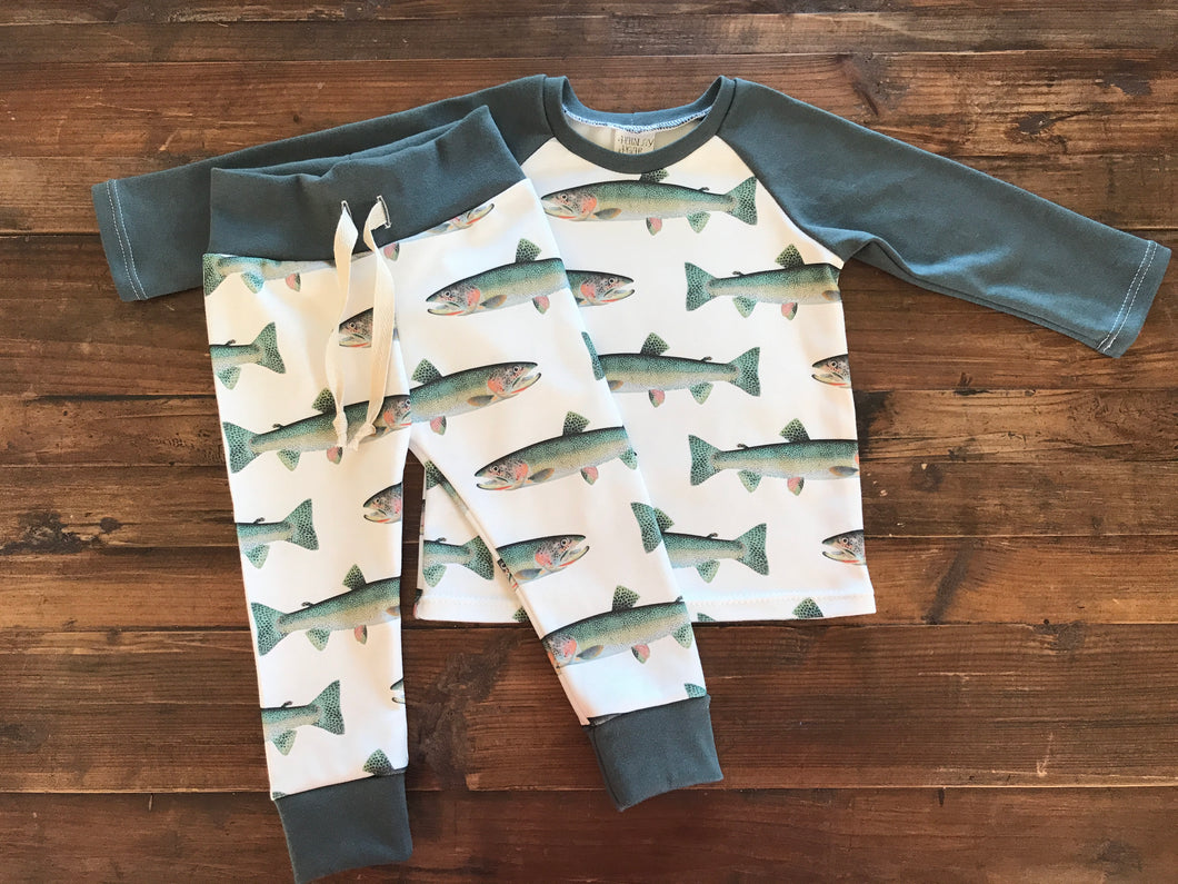 Trout Raglan Top