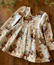 Holiday Moose Twirl Dress