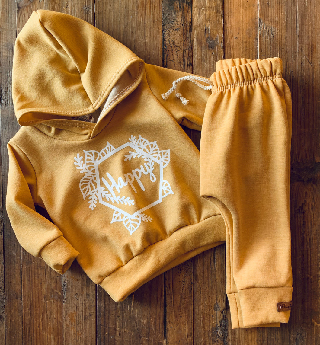 Heathered Yellow HAPPY Hoodie