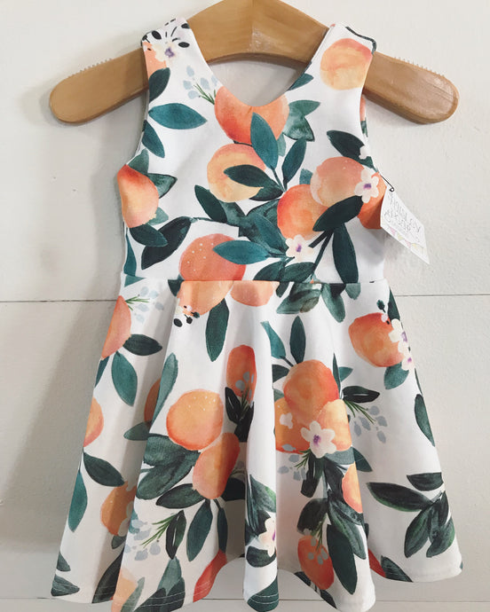 RTS Orange Blossom Twirl Dress